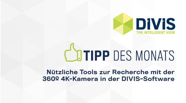 DIVIS-Tipp: Recherche mit der 360º 4K-Kamera | Warentracking