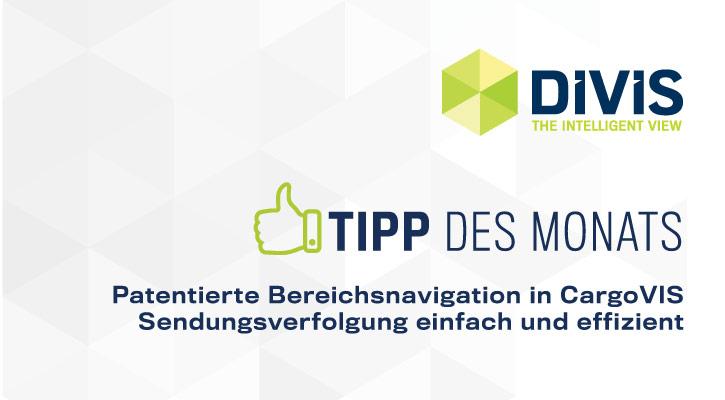 Tipp des Monats | Sendungsverfolgung mit patentierter Bereichsnavigation in CargoVIS