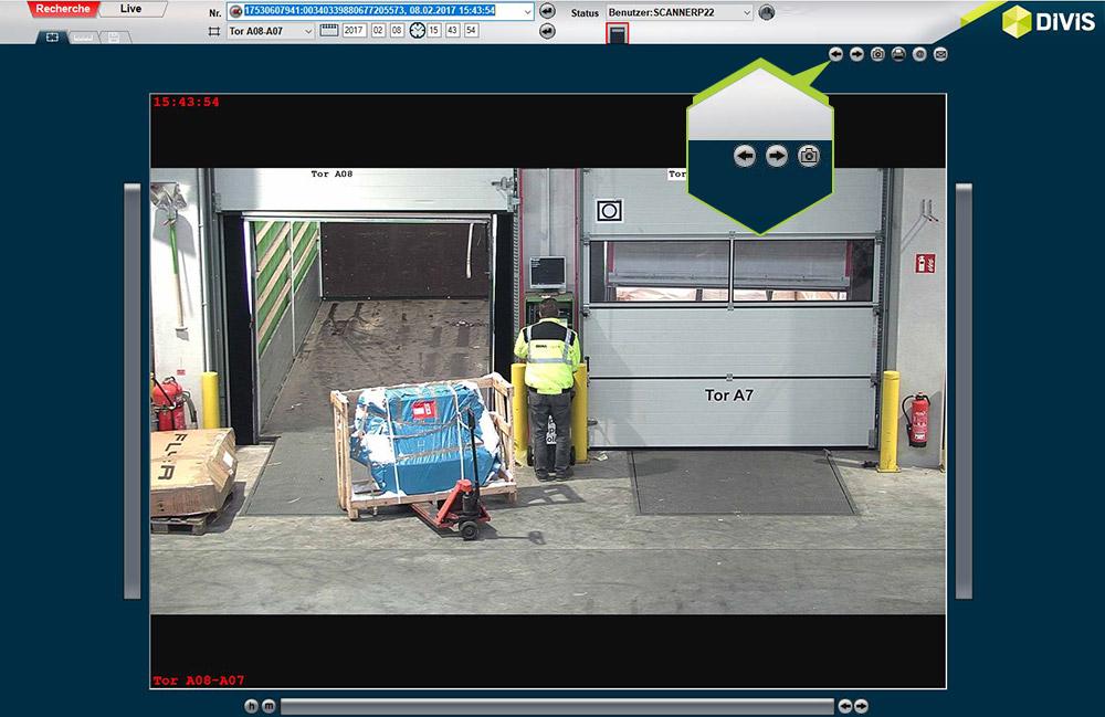 Patentierte Bereichsnavigation in CargoVIS | Navigationsbuttons