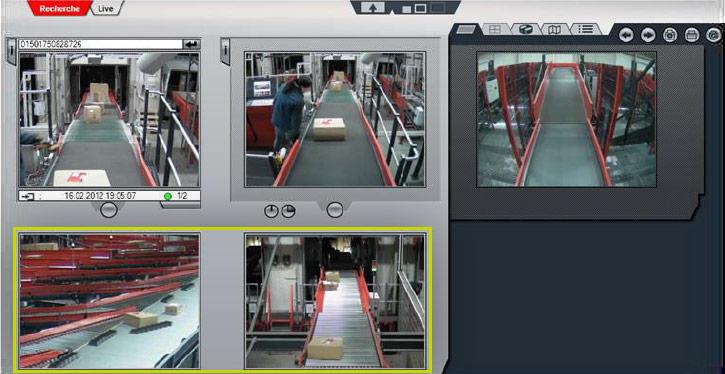 Videoarbeitsbereich in DIVIS-Software zur Sendungsrecherche