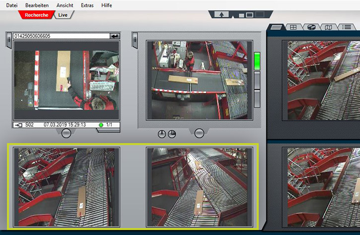 Videorecherche im Paket-Hub: Referenzbilder und Referenzmodus in ParcelVIS