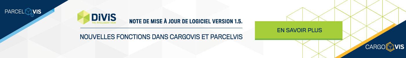 Note de mise à jour 1.5. Logiciel CargoVIS + ParcelVIS | DIVIS