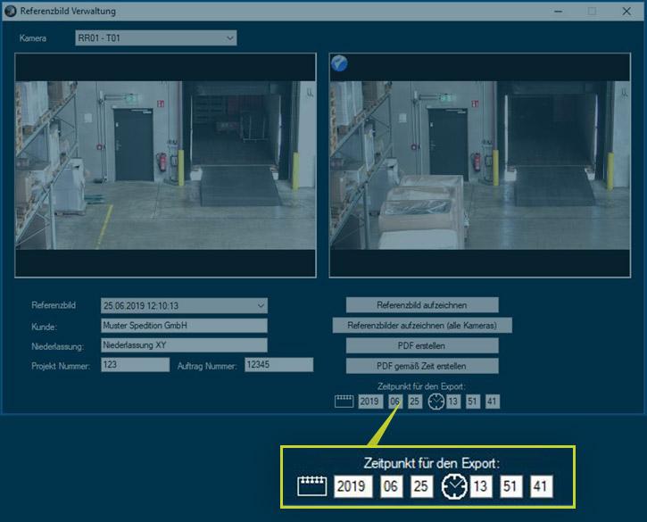 Sendungsrecherche in CargoVIS & ParcelVIS: Vergleich der aktuellen Kamerabilder