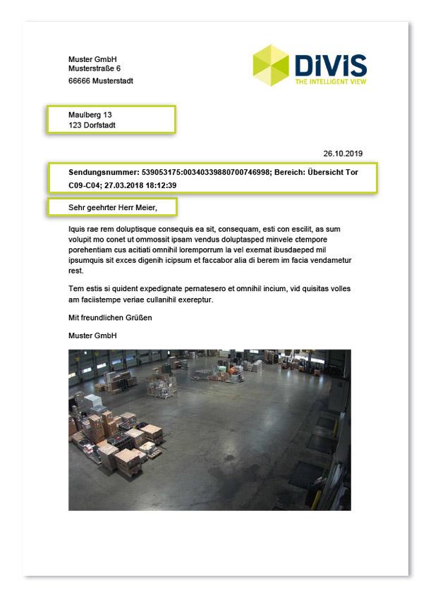 Einbinden von Briefvorlagen in ParcelVIS und CargoVIS