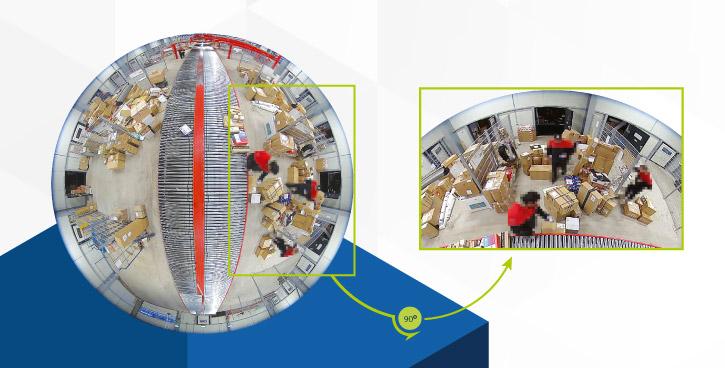 360-Grad-Konzept im Paketumschlag | Videomanagement