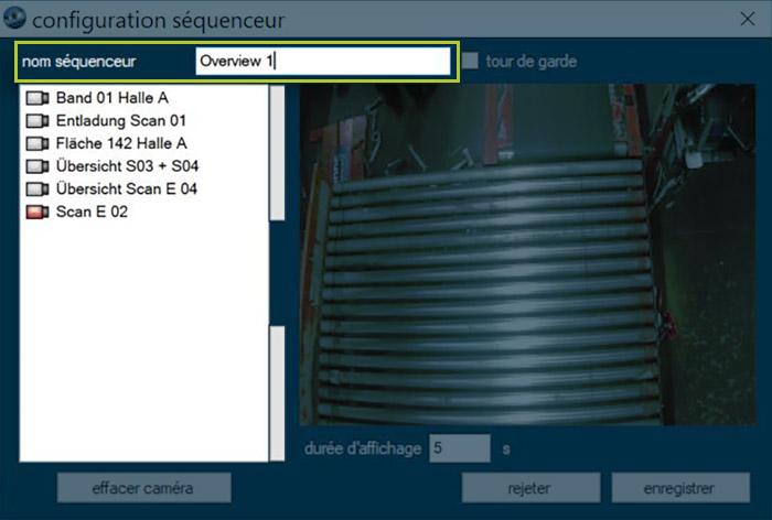 Sequenzer-Konfiguration   DIVIS Videomanagementsoftware